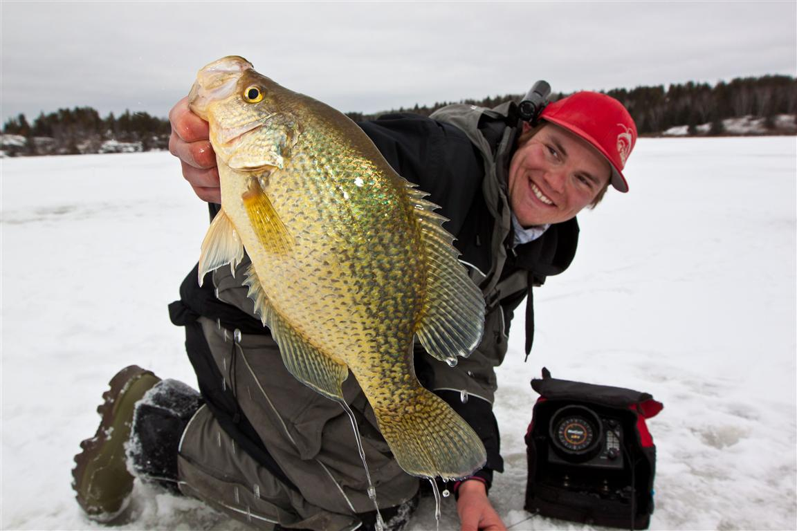 Ice fishing for Crappies